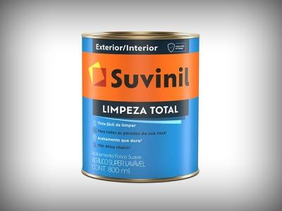 Tinta Acrílica Suvinil Semi Acetinado Limpeza Total - Cores - 3,6 Litros