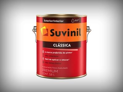Tinta Látex Suvinil Clássica Premium - Cores - 3,6 litros