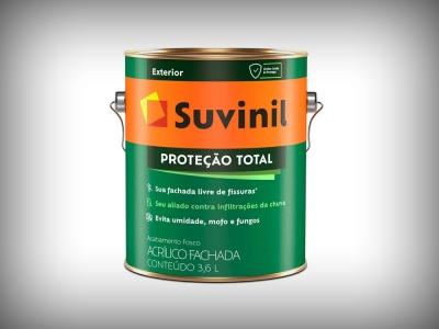 Tinta Acrílica Suvinil Proteção Total - Cores - 3,6 Litros