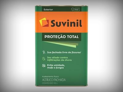 Tinta Acrílica Suvinil Proteção Total - Cores - 18 Litros