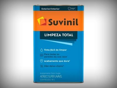 Tinta Acrílica Suvinil Semi Acetinado Limpeza Total - Cores - 18 Litros